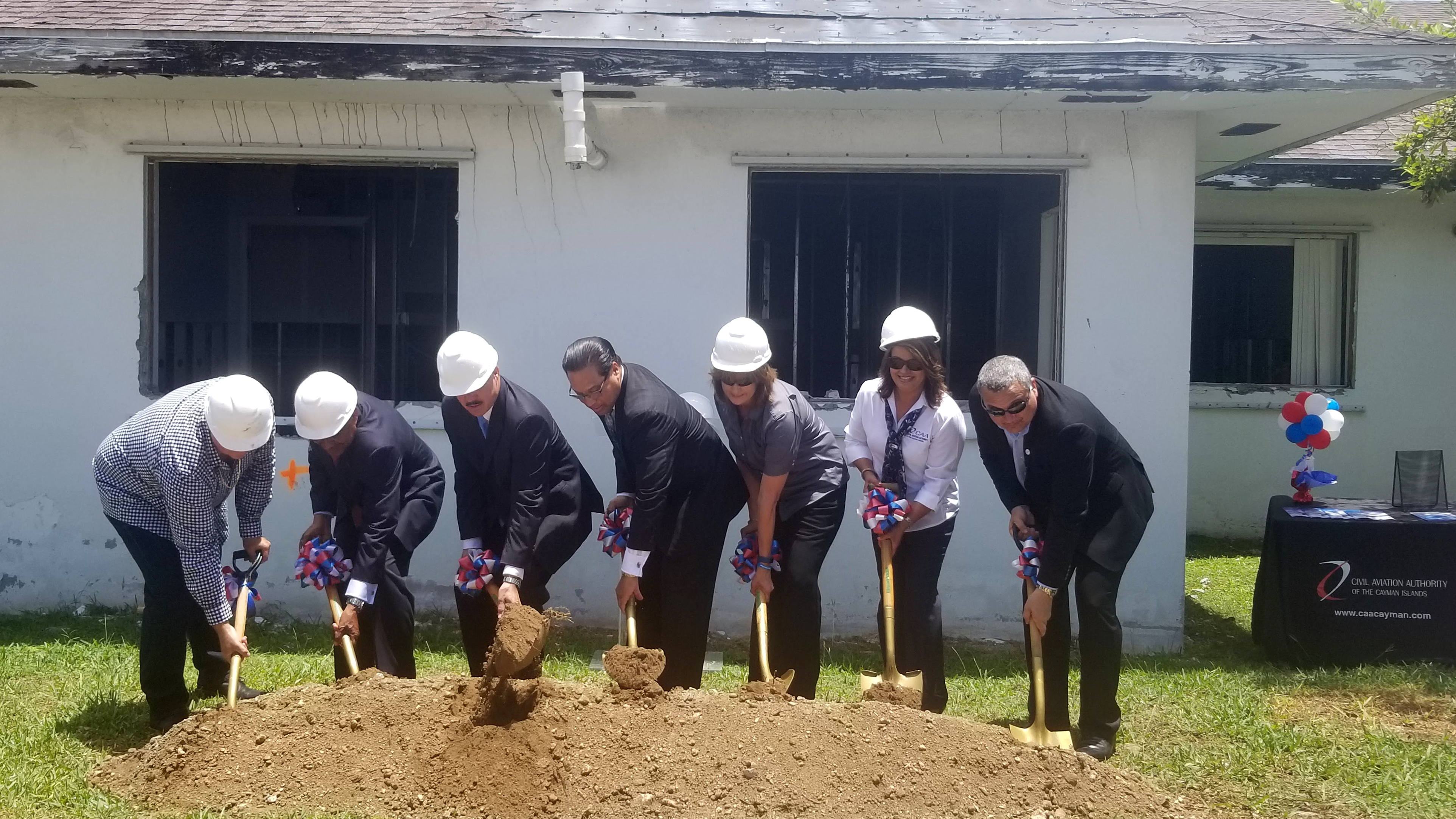 Civil aviation authority cayman islands groundbreaking ceremony